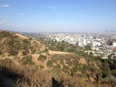 Looking down on Hollywood