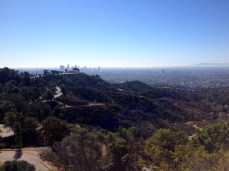 Griffith Observatory, with downtown LA in the distance