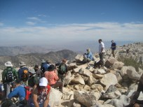 Crowded at the summit of San Gorgonio