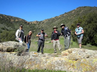 Hikers in Blackstar Canyon