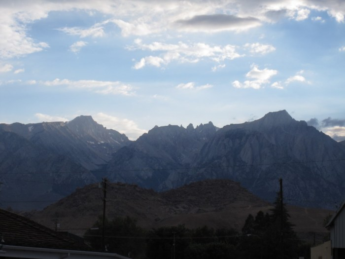The view west, toward Mt. Whitney