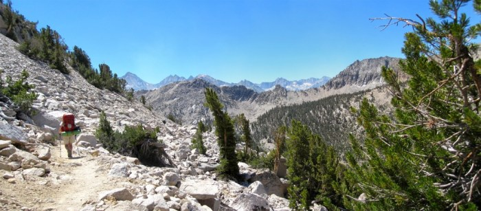Heading Down to Vidette Meadow