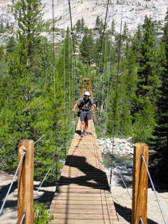 SoCal Hiker on Woods Creek Suspension Bridge