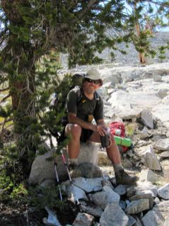 Jeff Enjoys a Patch of Shade on the JMT