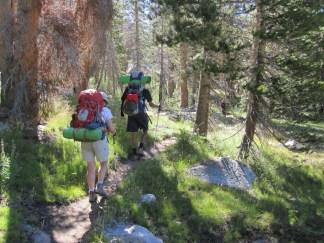 Hiking through Evolution Valley
