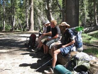 Break time near Crater Creek