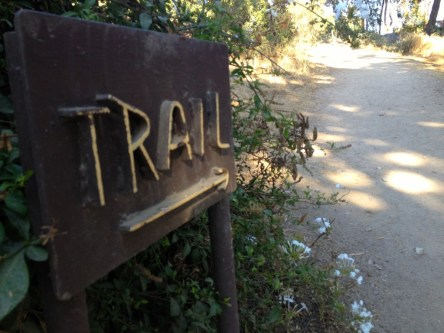 Sign to the Sam Merrill Trail