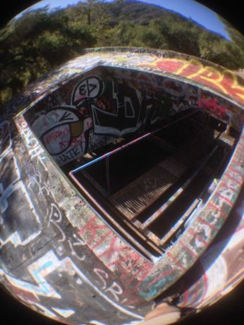 Fisheye view from the roof of the power house