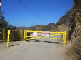 Rustic Canyon Entrance to Topanga State Park