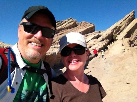 Jeff and Joan at Vasquez Rocks