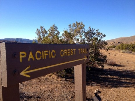 Pacific Crest Trail sign