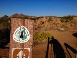 PCT trail marker