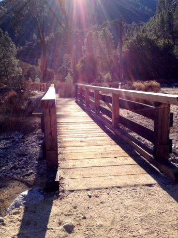 One of many bridges on the Bear Gulch Trail