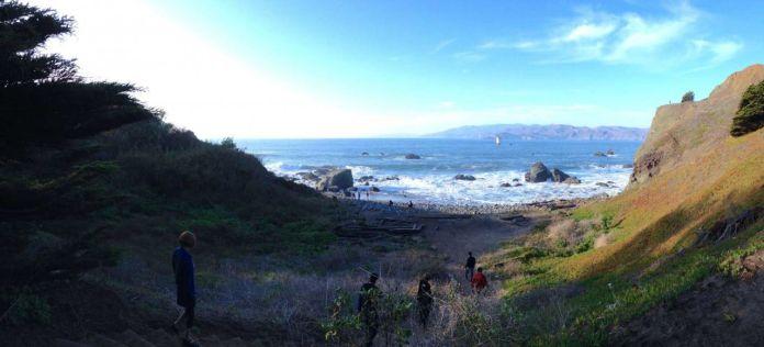 Mile Rock Beach panorama