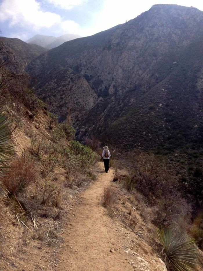 Hiking up the west side of Trail Canyon