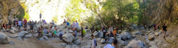 Th mob at Eaton Canyon Waterfall