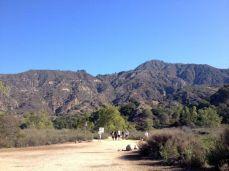 The Eaton Canyon Trail begins