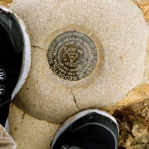 The USGS Benchmark atop Mt Tam