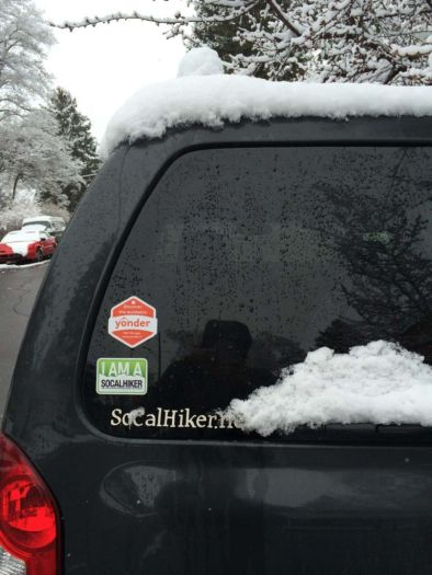 The Xterra gets blanketed in snow