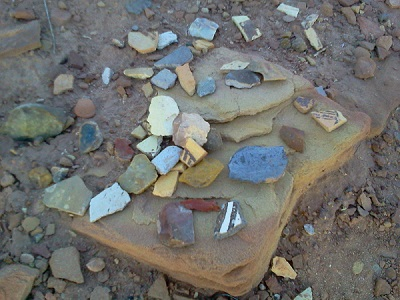 Artifacts at an archaeological site in Arizona. Photo: Julia Cozby.