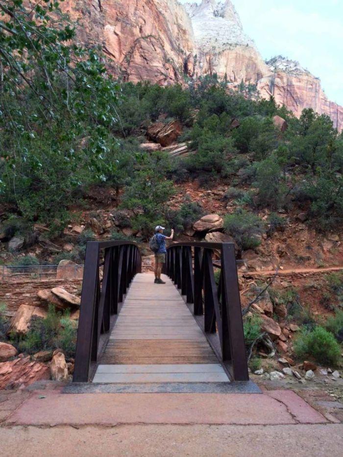 Bridge at the Grotto Trailhead