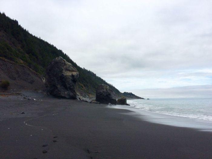 Boulders on Black Sands Beach