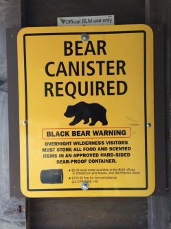 Bear Canister Required on the LCT