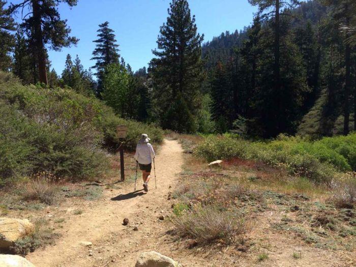 Heading down the Burkhart Trail