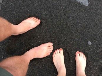 White Feet, Black Sand