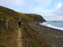 Joan on the Lost Coast Trail