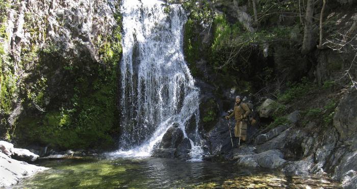 Kolby Kirk at Cooper Canyon Falls