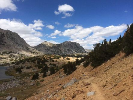 Headed down from Bishop Pass