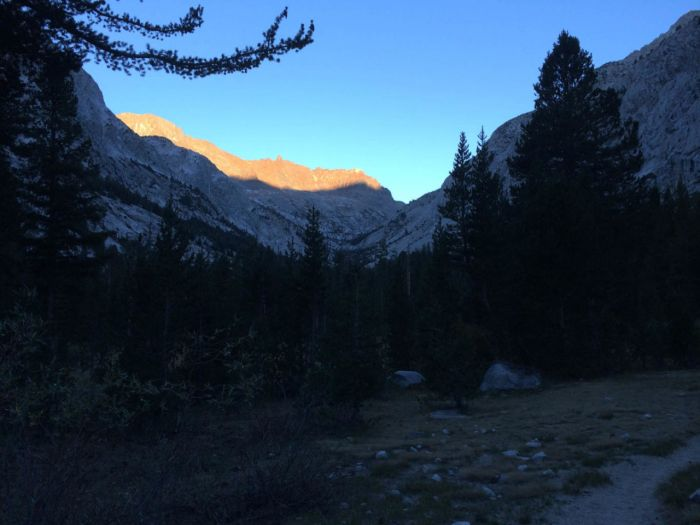 Early morning light in LeConte Canyon