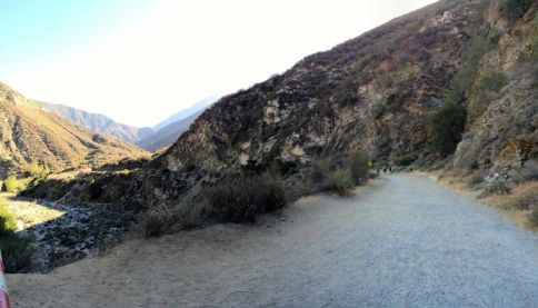 The East Fork Trail Begins as a Gravel Road