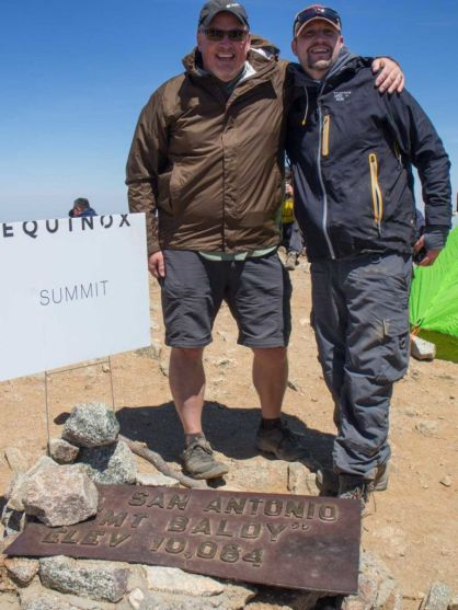 Jeff & Pete at the Summit