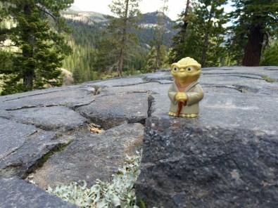 Yoda surveys the Devils Postpile