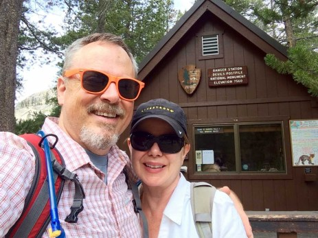 Jeff and Joan at the Devils Postpile NM ranger station