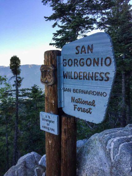 Entering the San Gorgonio Wilderness