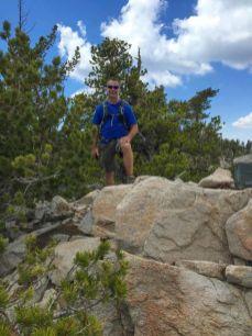 Dave on Little Charlton - Peak Seven