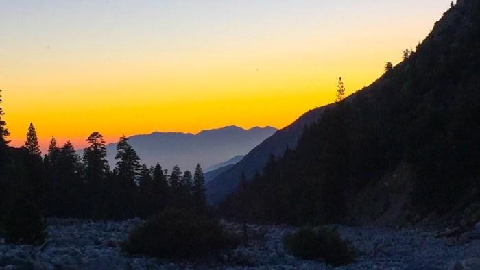 Twilight at the Vivian Creek trailhead
