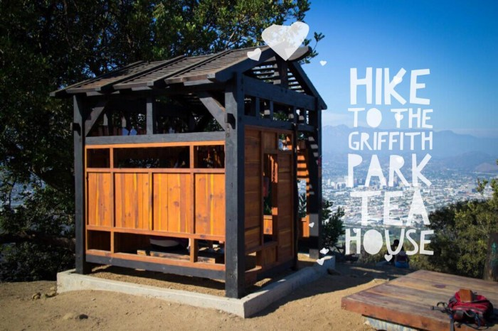 The shortest route to hike to the Griffith Park Team House
