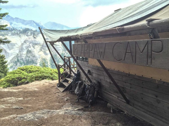 Bearpaw Camp on the High Sierra Trail