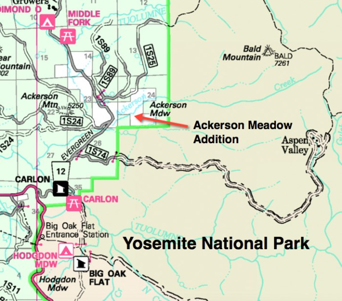 Yosemite National Park grows with Ackerson Meadow addition