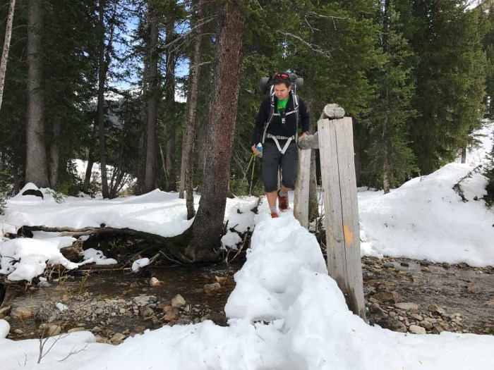 Snow in Granite Canyon