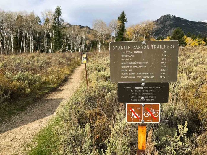 Granite Canyon Trailhead