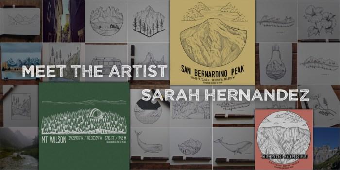 Meet the artist behind the Six-Pack Tee Series - Sarah Hernandez