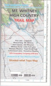Tom Harrison Mt Whitney High Country Map