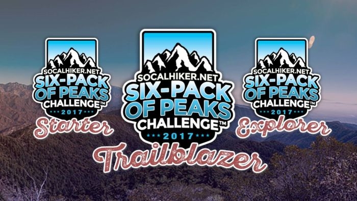 Register for the 2017 Six-Pack of Peaks Challenge