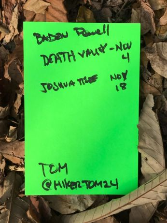 Baden Powell, Death Valley, Joshua Tree