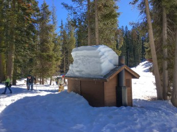 Snowfall in Yosemite is measured in feet